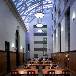 Another view of the study tables at Widener Library, Harvard University