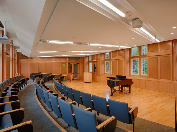 We provided the acoustical wall paneling, wall panels and trim for this very effective performance space.