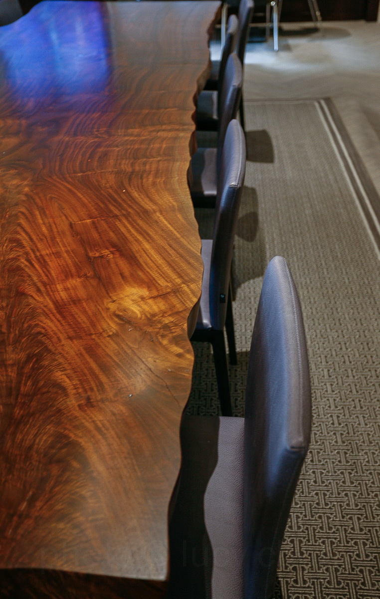 Live-edge custom table for a corporate client