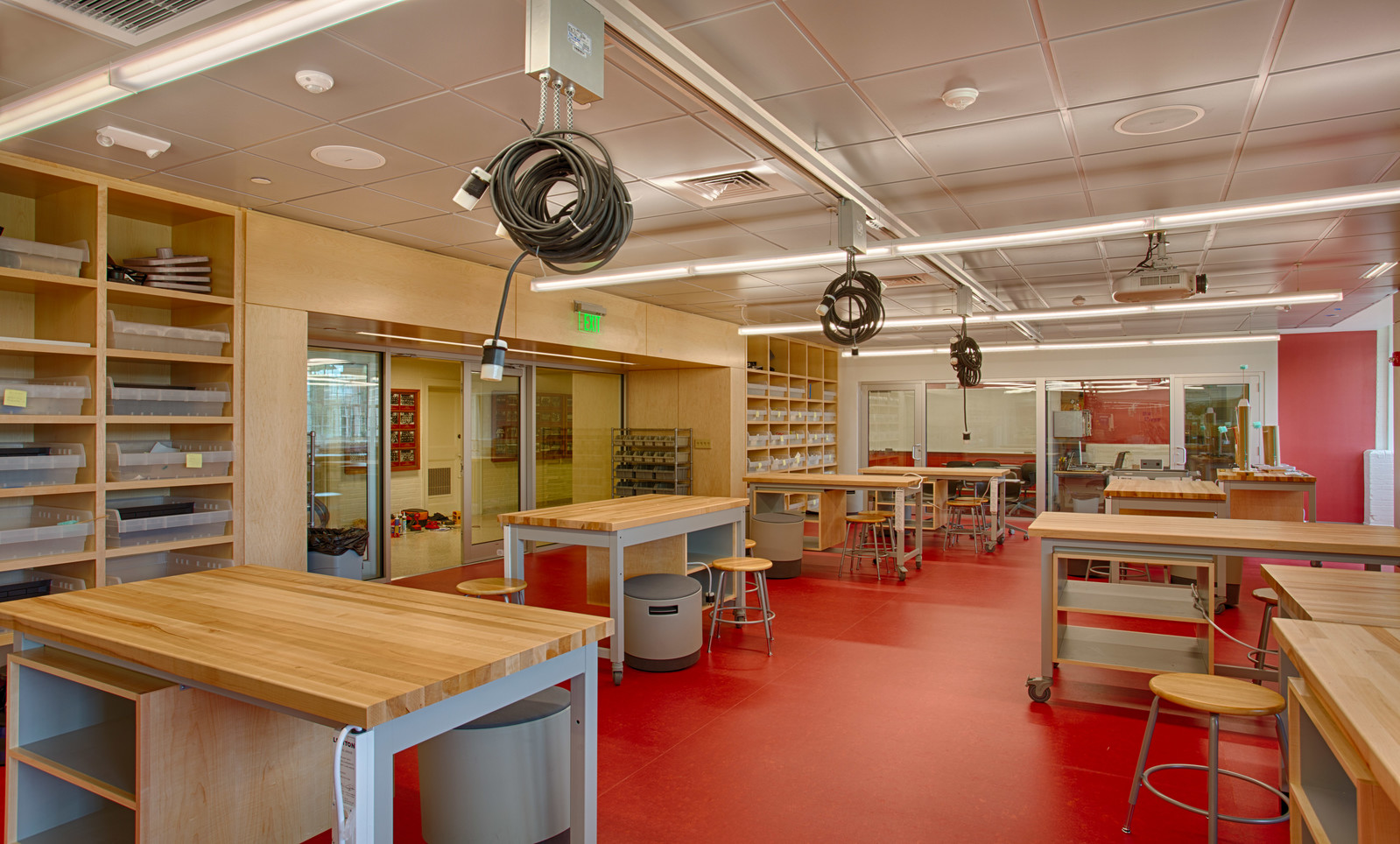 We furnished the built-ins for this high school lab space